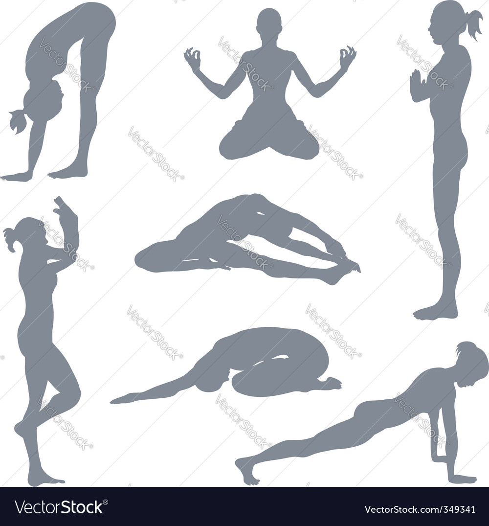 Yoga postures vector | Price: 1 Credit (USD $1)