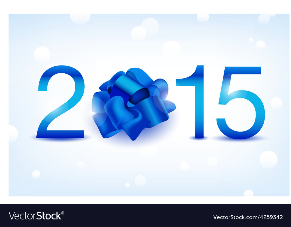 2015 new year blue shiny card vector | Price: 1 Credit (USD $1)