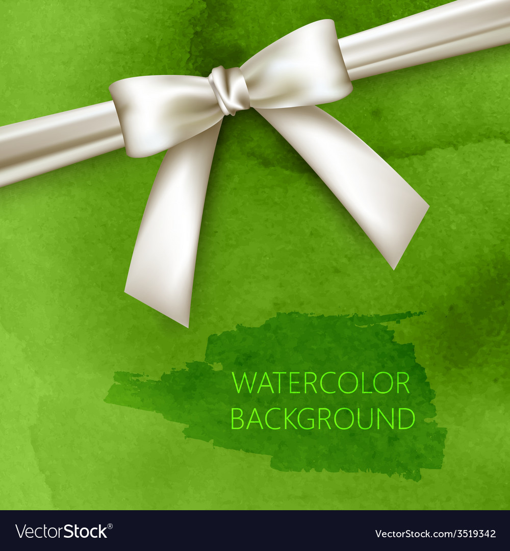 Abstract green watercolor background with white vector | Price: 1 Credit (USD $1)