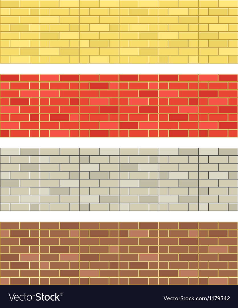 Brick wall textures vector | Price: 1 Credit (USD $1)