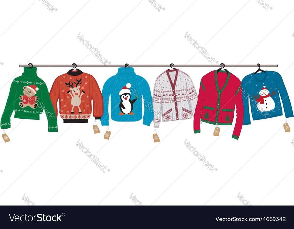 Christmas sweaters vector   Price: 1 Credit (USD $1)