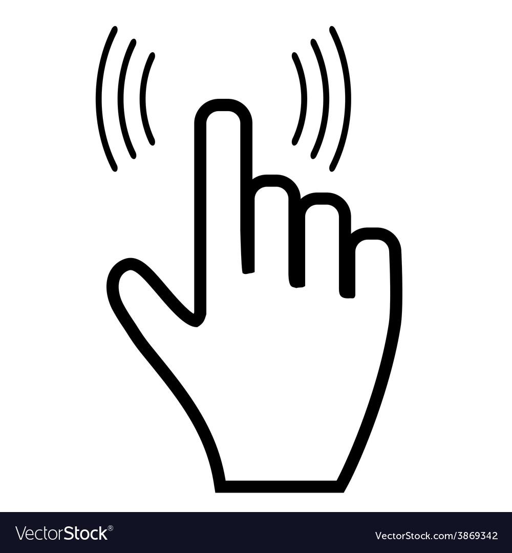 Click hand icon pointer vector | Price: 1 Credit (USD $1)