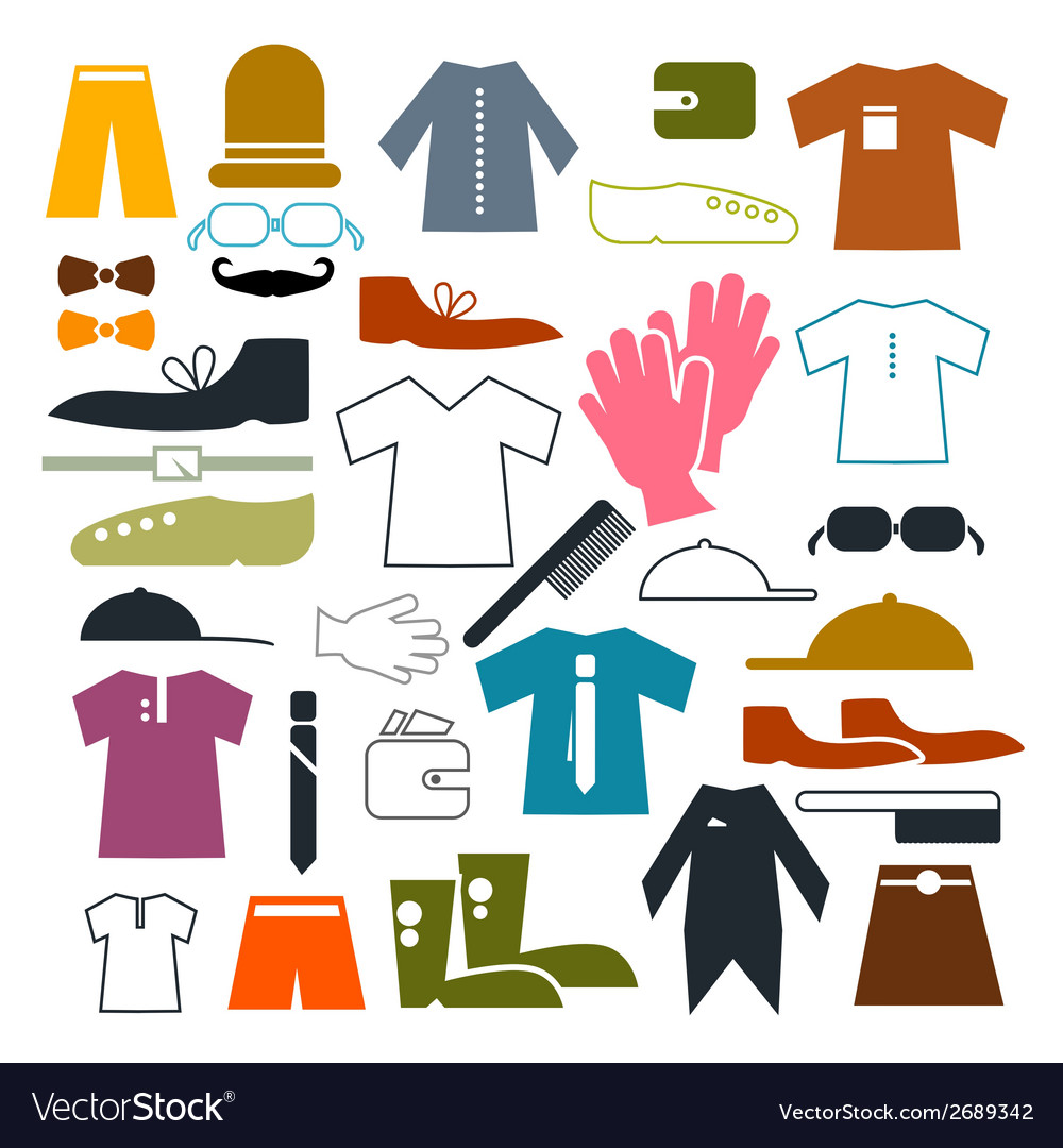 Clothing icons set vector | Price: 1 Credit (USD $1)