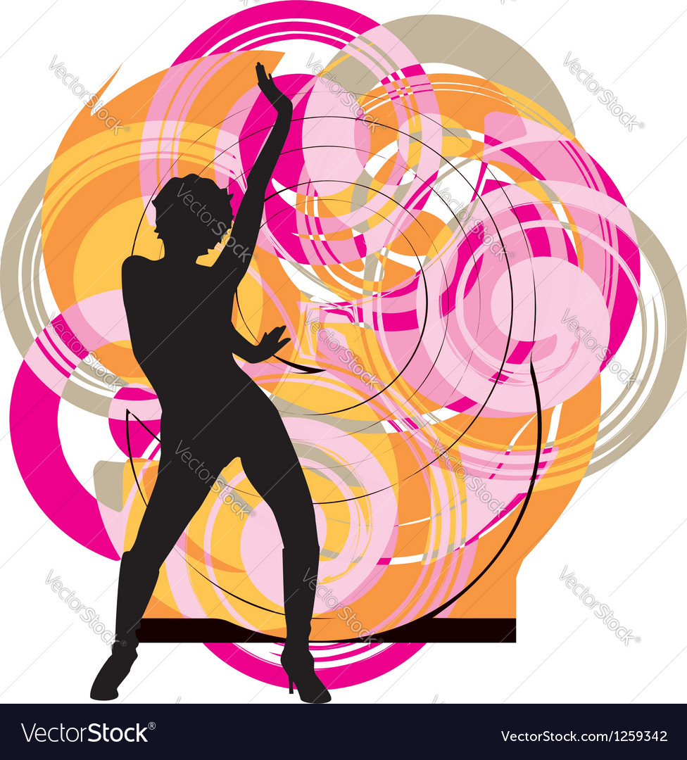 Dancing woman vector | Price: 1 Credit (USD $1)