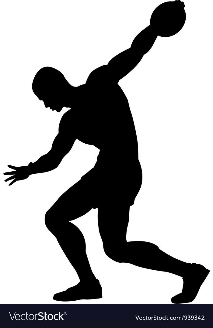 Discus thrower vector | Price: 1 Credit (USD $1)
