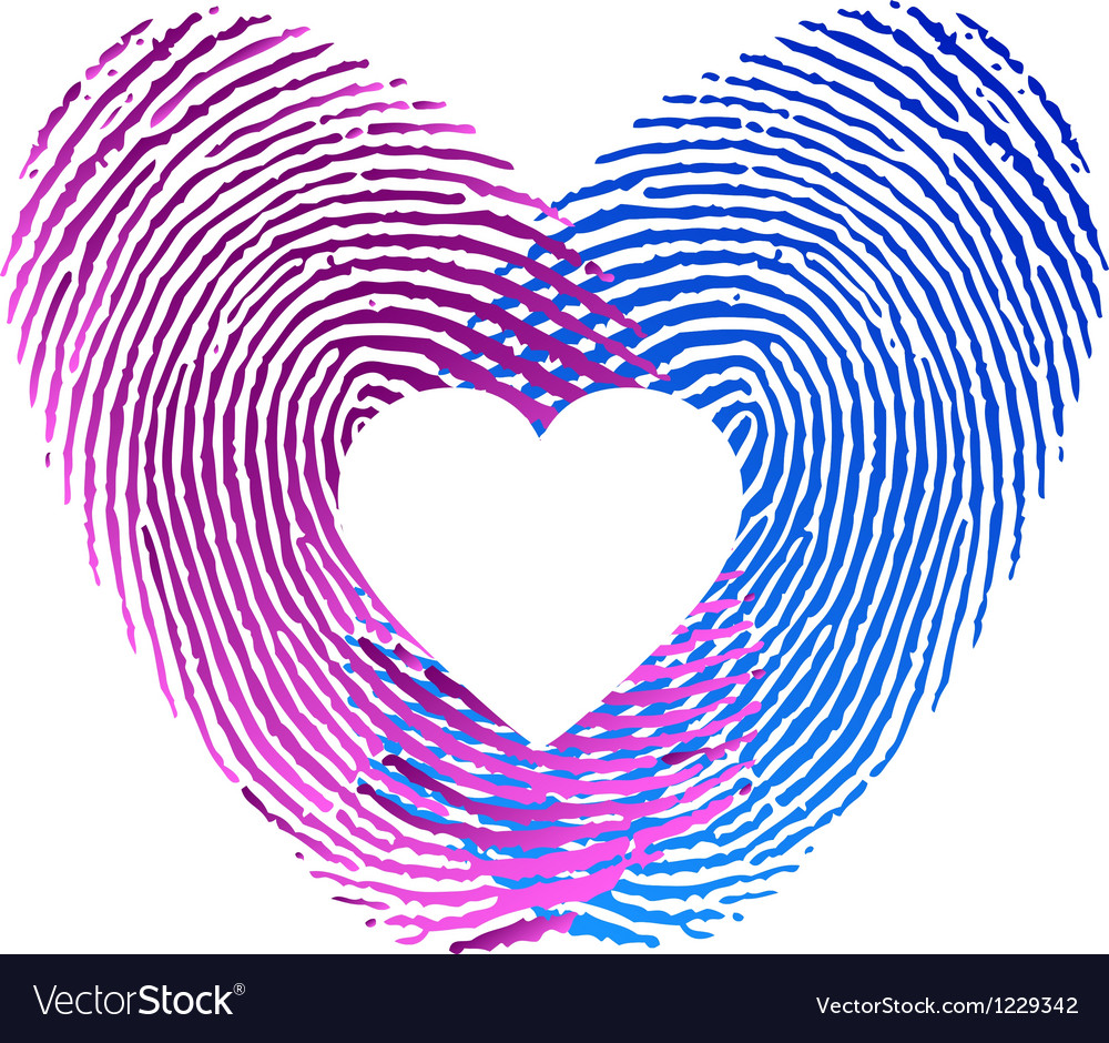 Finger print of man and woman in love vector | Price: 1 Credit (USD $1)