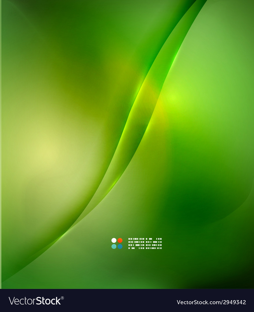 Fresh green blur wave and colors vector   Price: 1 Credit (USD $1)