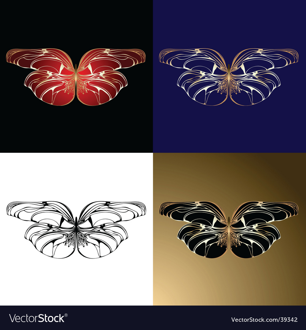 Jewelery butterflies vector | Price: 1 Credit (USD $1)