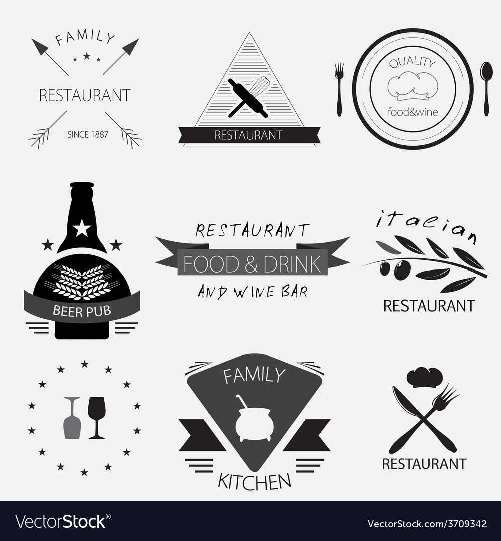 Label logo or menu design for restaurant or vector | Price: 1 Credit (USD $1)
