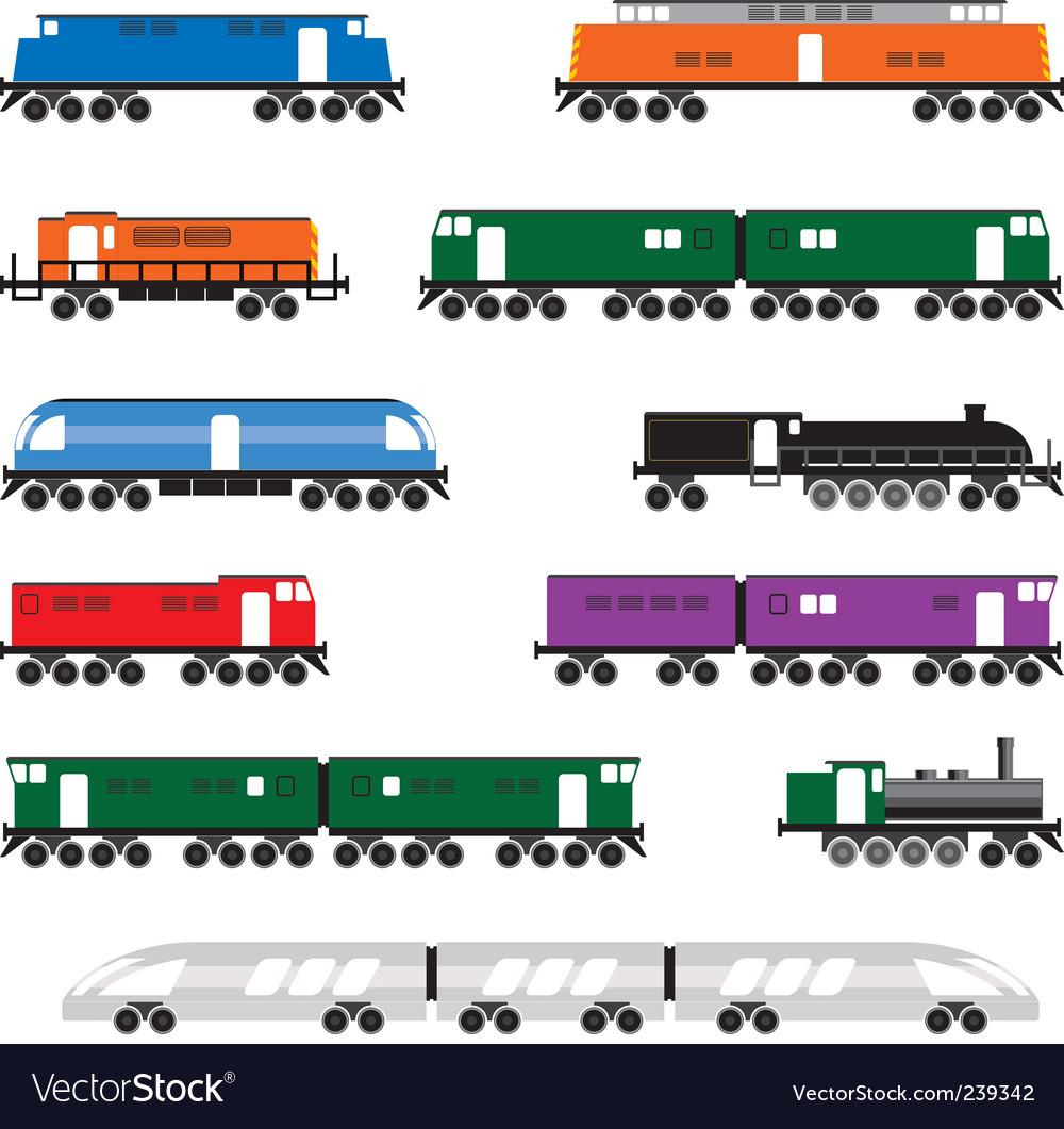 Locomotives vector | Price: 1 Credit (USD $1)