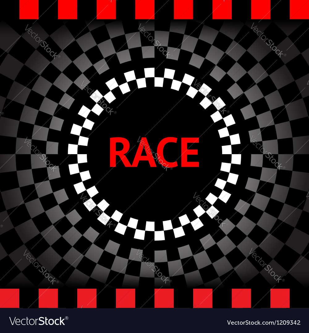 Race-square-black-background vector | Price: 1 Credit (USD $1)