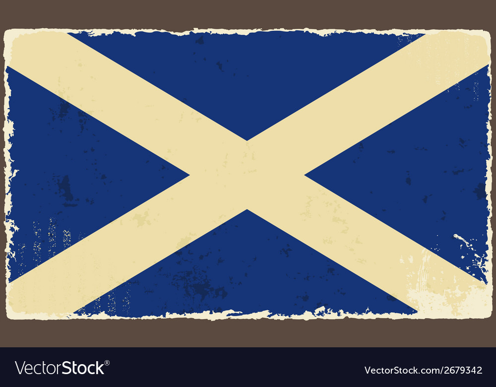 Scottish grunge flag vector | Price: 1 Credit (USD $1)