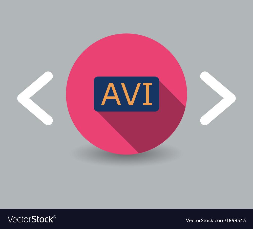 Avi icon vector | Price: 1 Credit (USD $1)