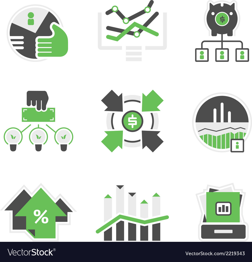 Business analysis icons vector | Price: 1 Credit (USD $1)