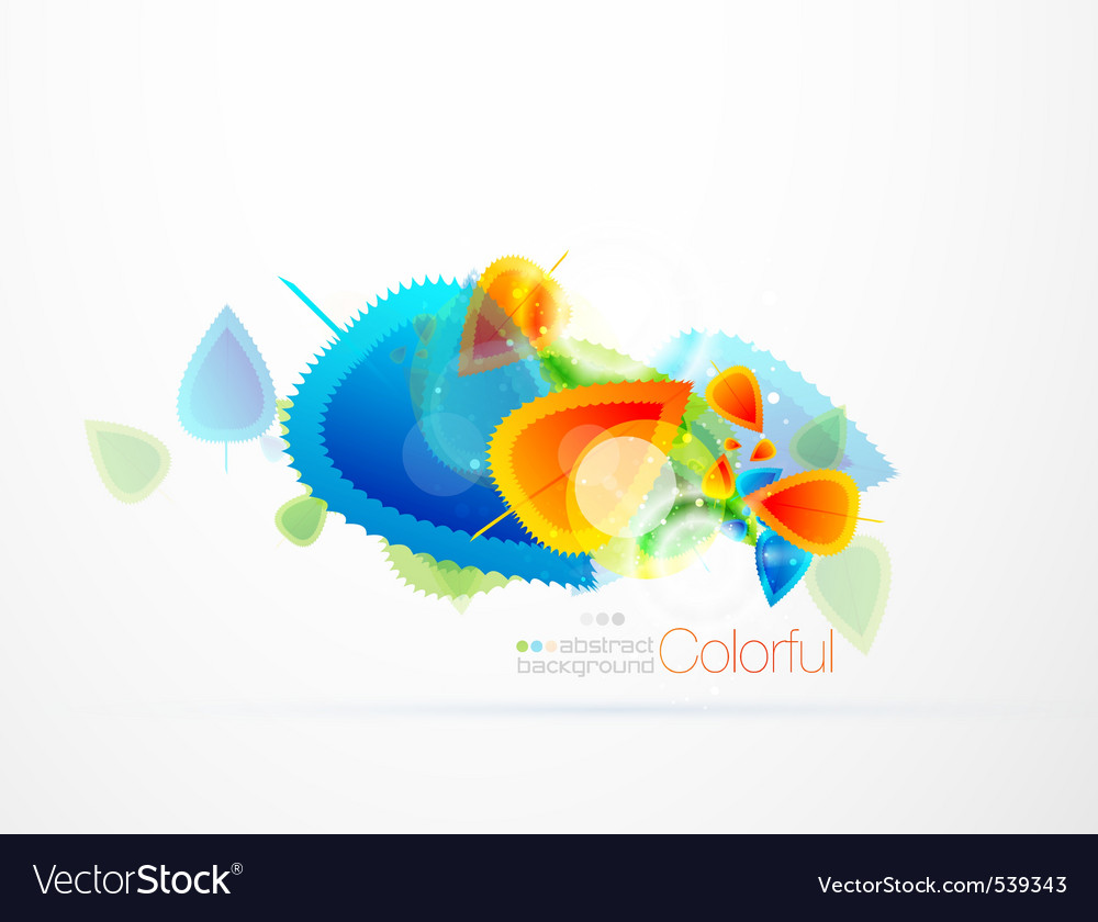 Colorful leaf vector | Price: 1 Credit (USD $1)