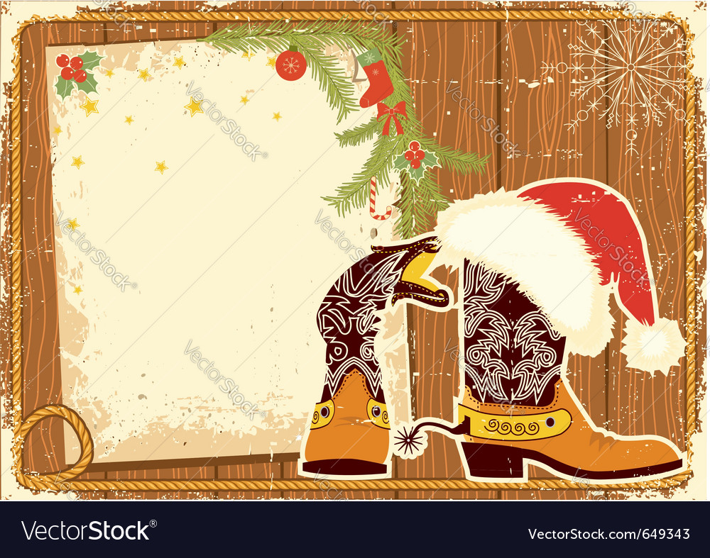 Cowboy christmas vector | Price: 1 Credit (USD $1)