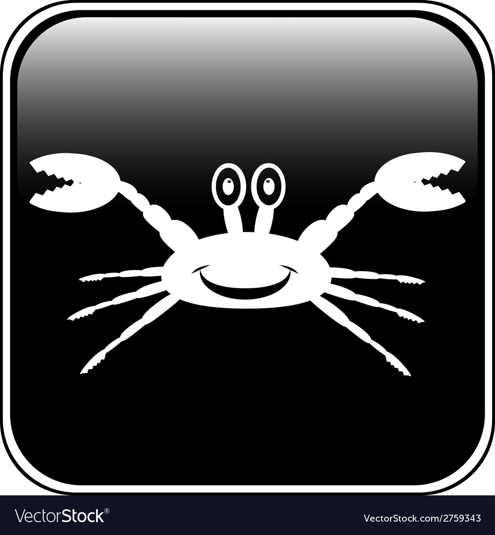 Crab button vector | Price: 1 Credit (USD $1)