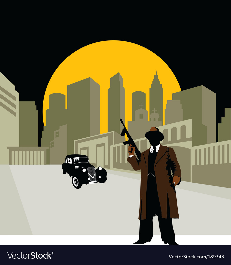 Crime town vector | Price: 1 Credit (USD $1)