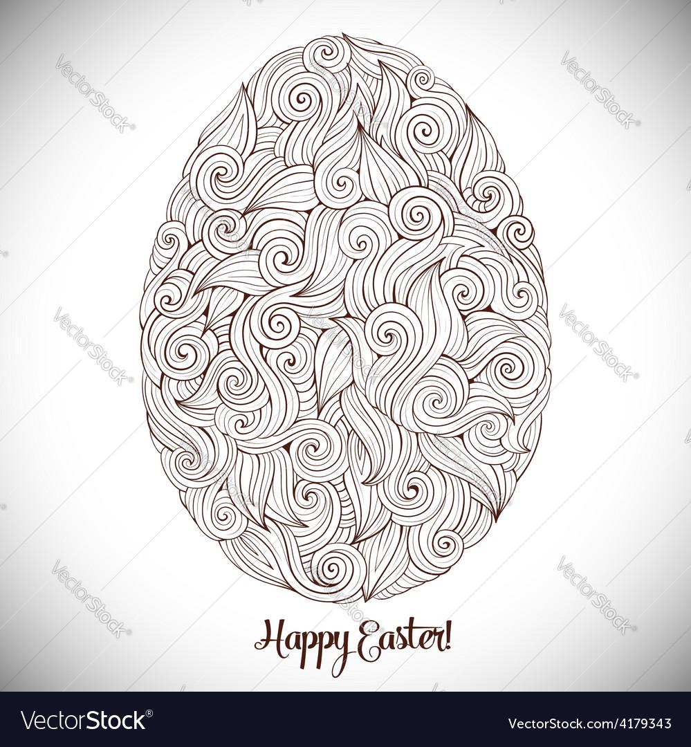 Doodles ornament easter egg background vector | Price: 1 Credit (USD $1)