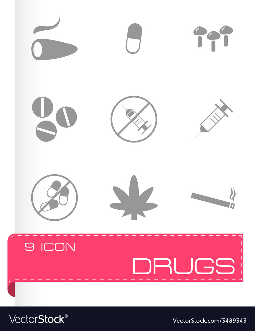 Drugs icons set vector | Price: 1 Credit (USD $1)