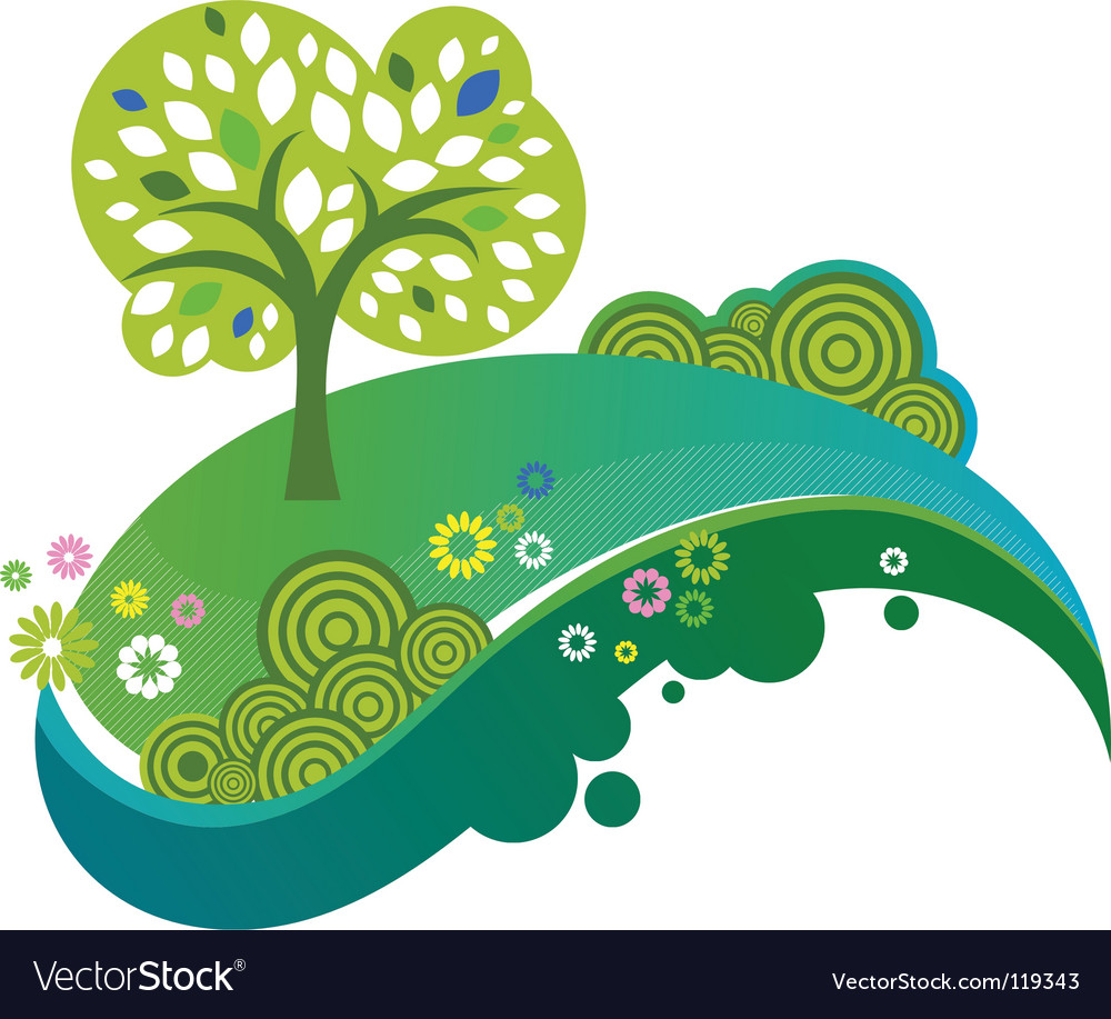 Eco nature design vector | Price: 1 Credit (USD $1)