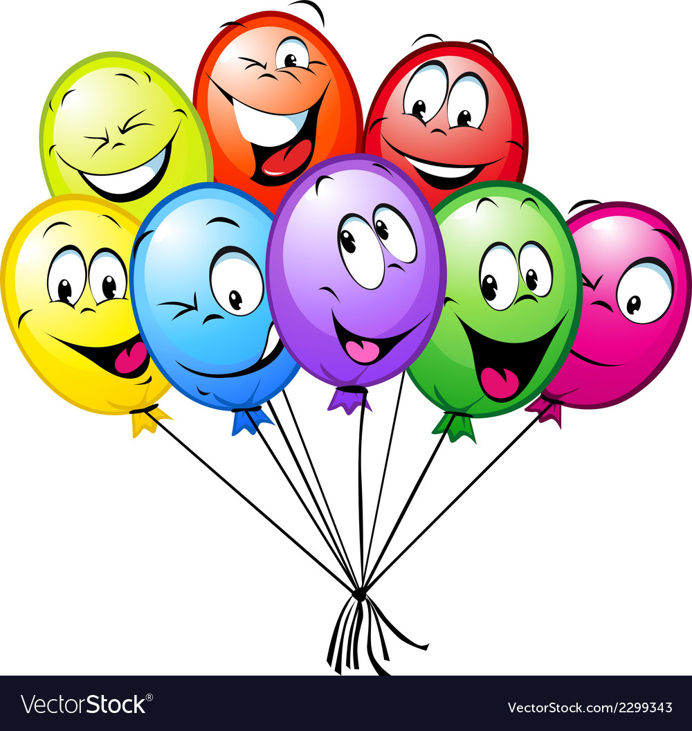 Group of funny colorful balloons vector | Price: 1 Credit (USD $1)