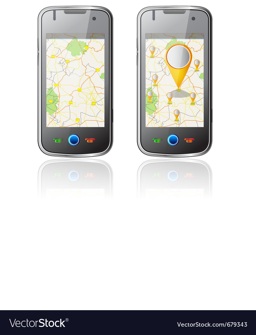 Map in mobile vector | Price: 3 Credit (USD $3)