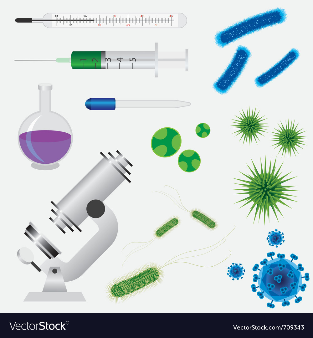 Medical tools and viruses vector | Price: 1 Credit (USD $1)