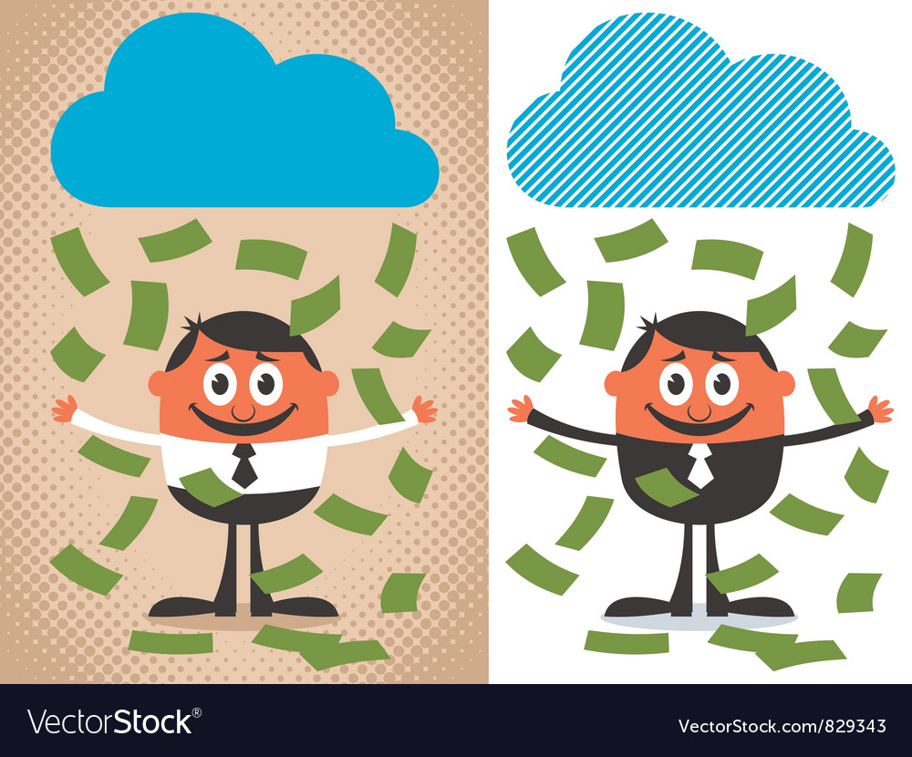 Money rain vector | Price: 3 Credit (USD $3)
