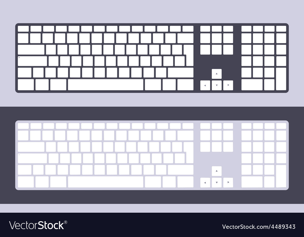 Pc keyboard vector | Price: 1 Credit (USD $1)