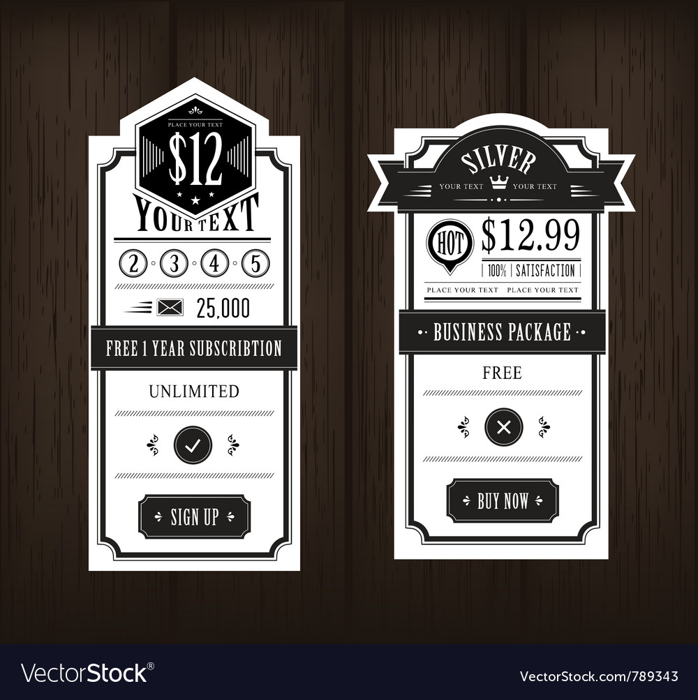 Price table vector   Price: 1 Credit (USD $1)