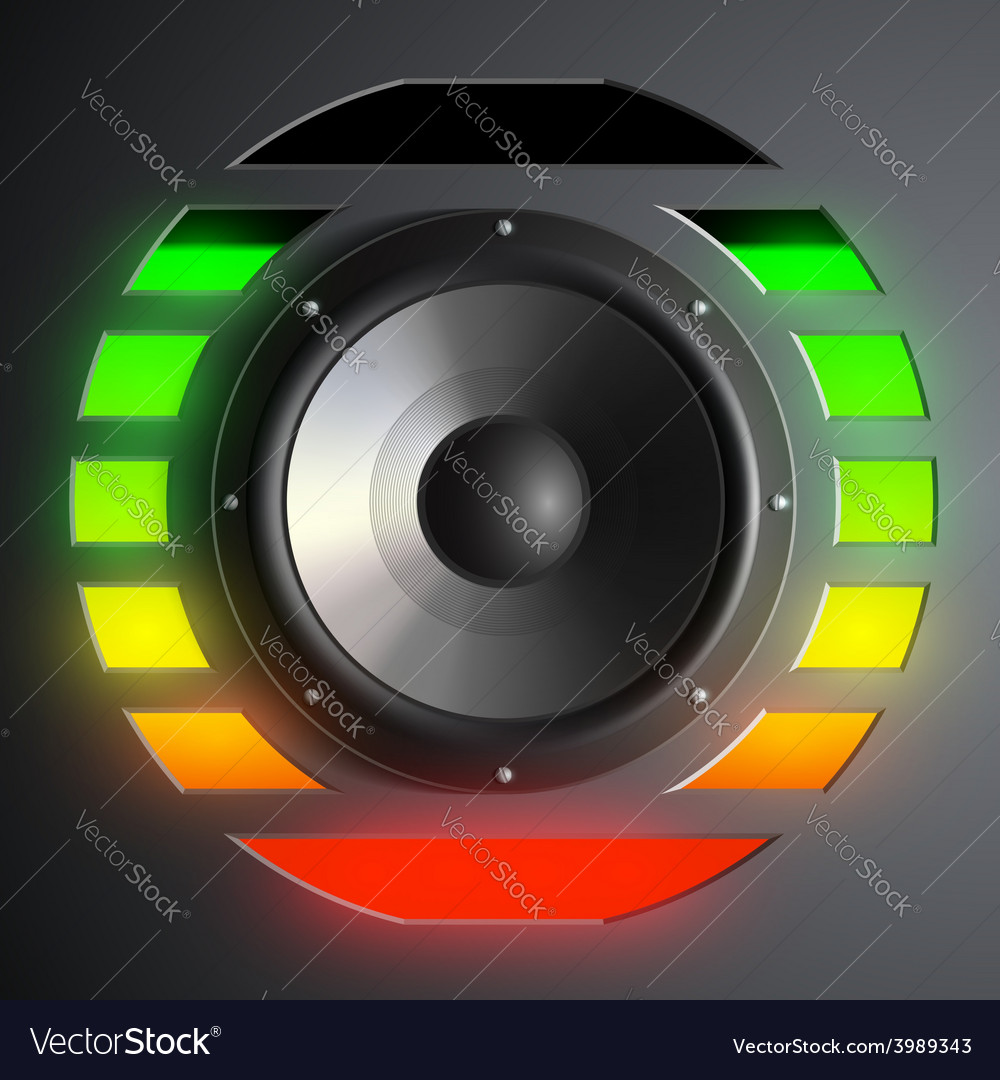 Speaker and equalizer vector | Price: 1 Credit (USD $1)