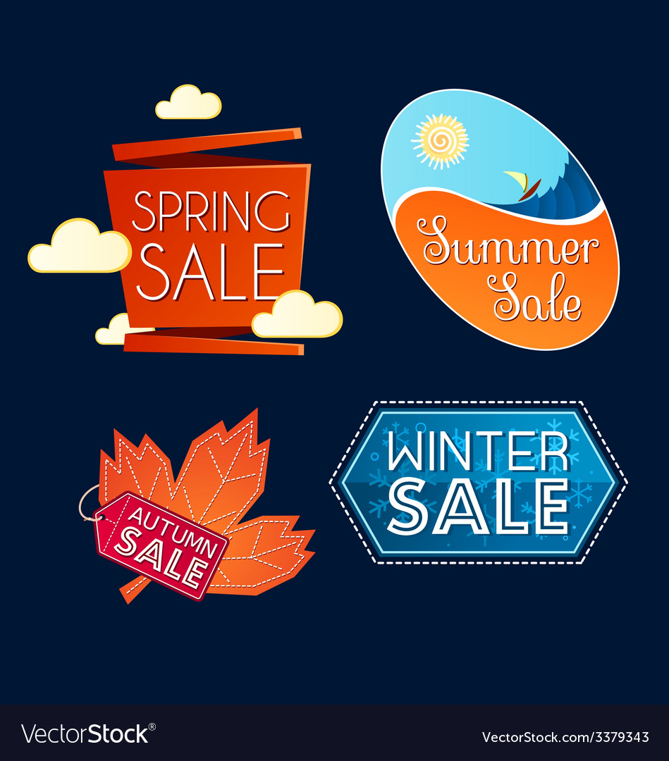 Various seasonal sale event tittle vector | Price: 1 Credit (USD $1)