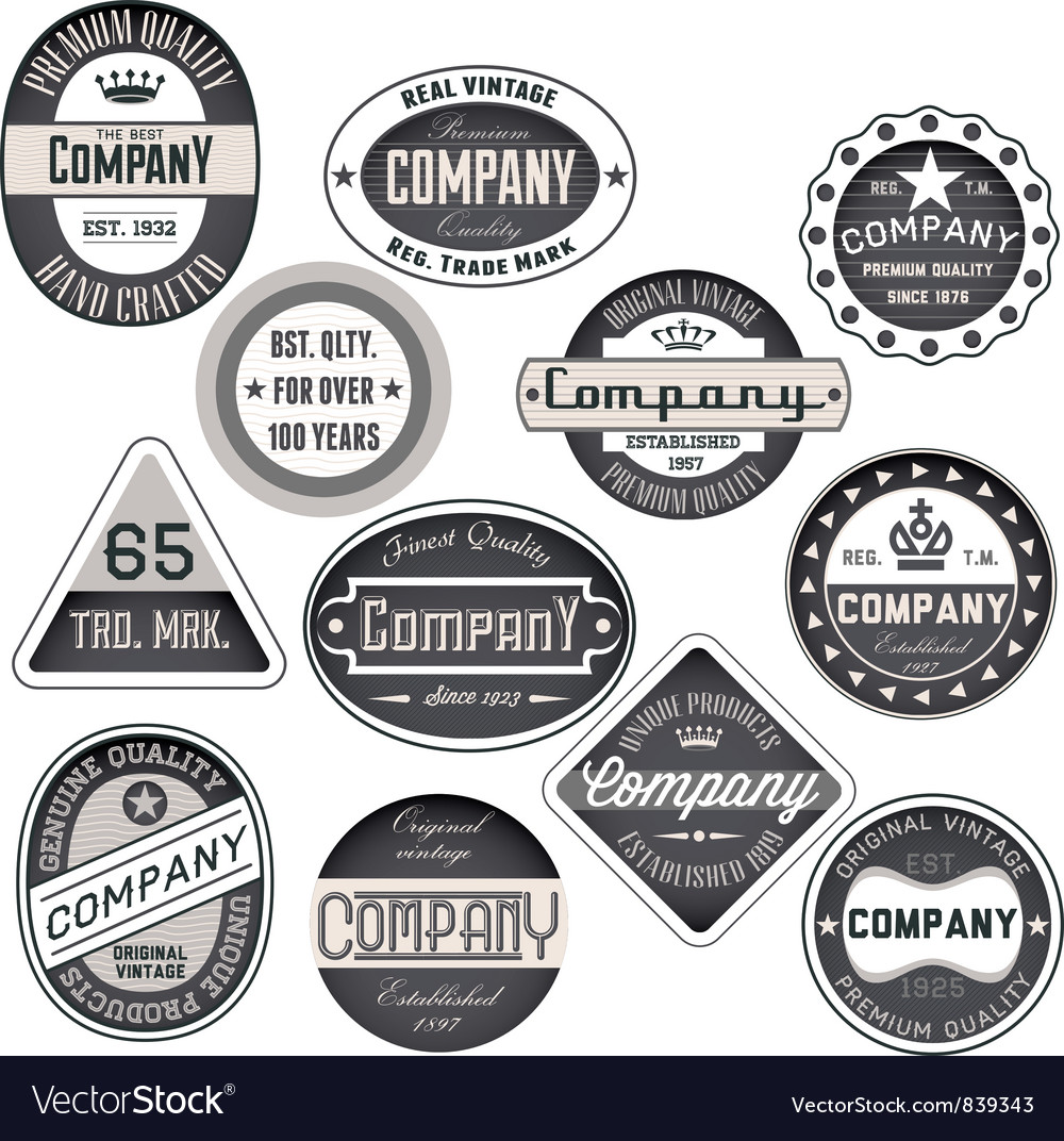 Vintage badges vector | Price: 1 Credit (USD $1)