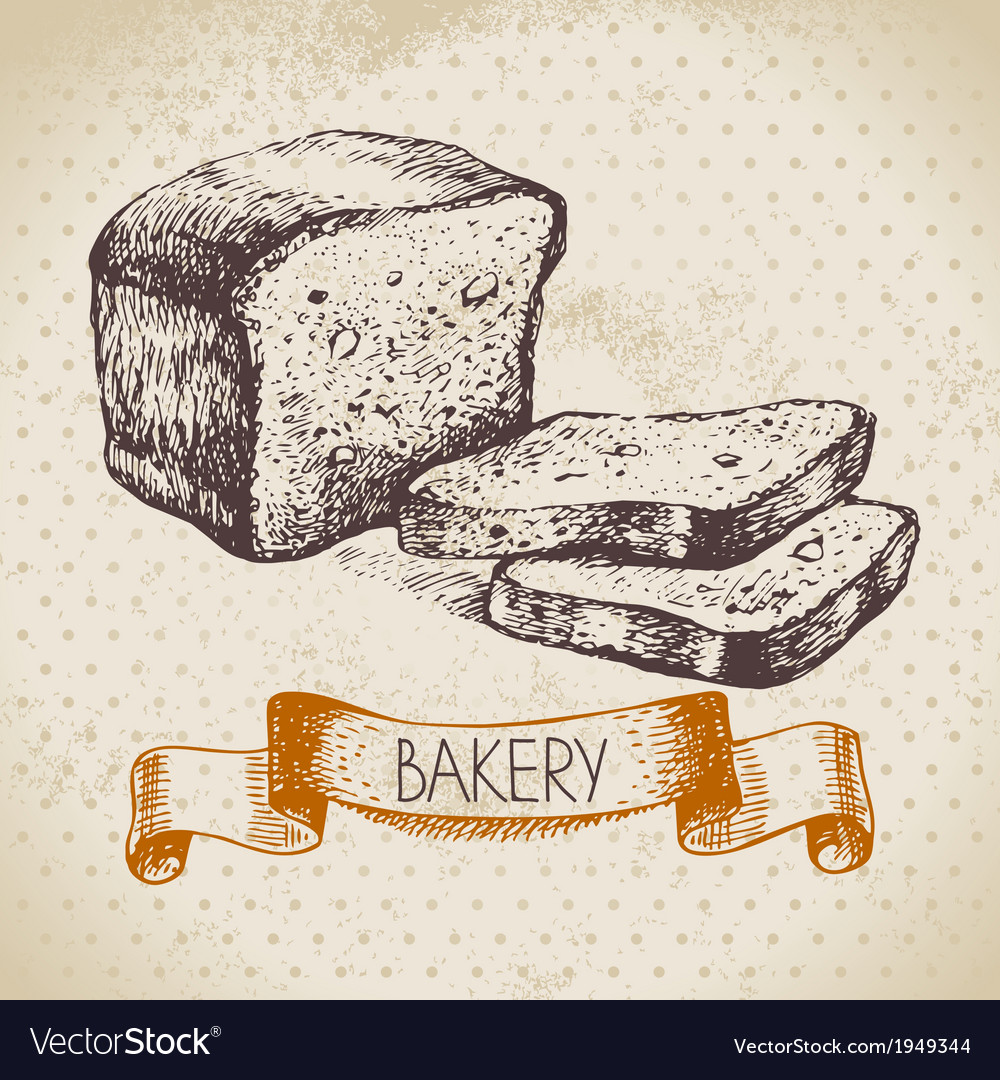 Bakery sketch background vector | Price: 1 Credit (USD $1)