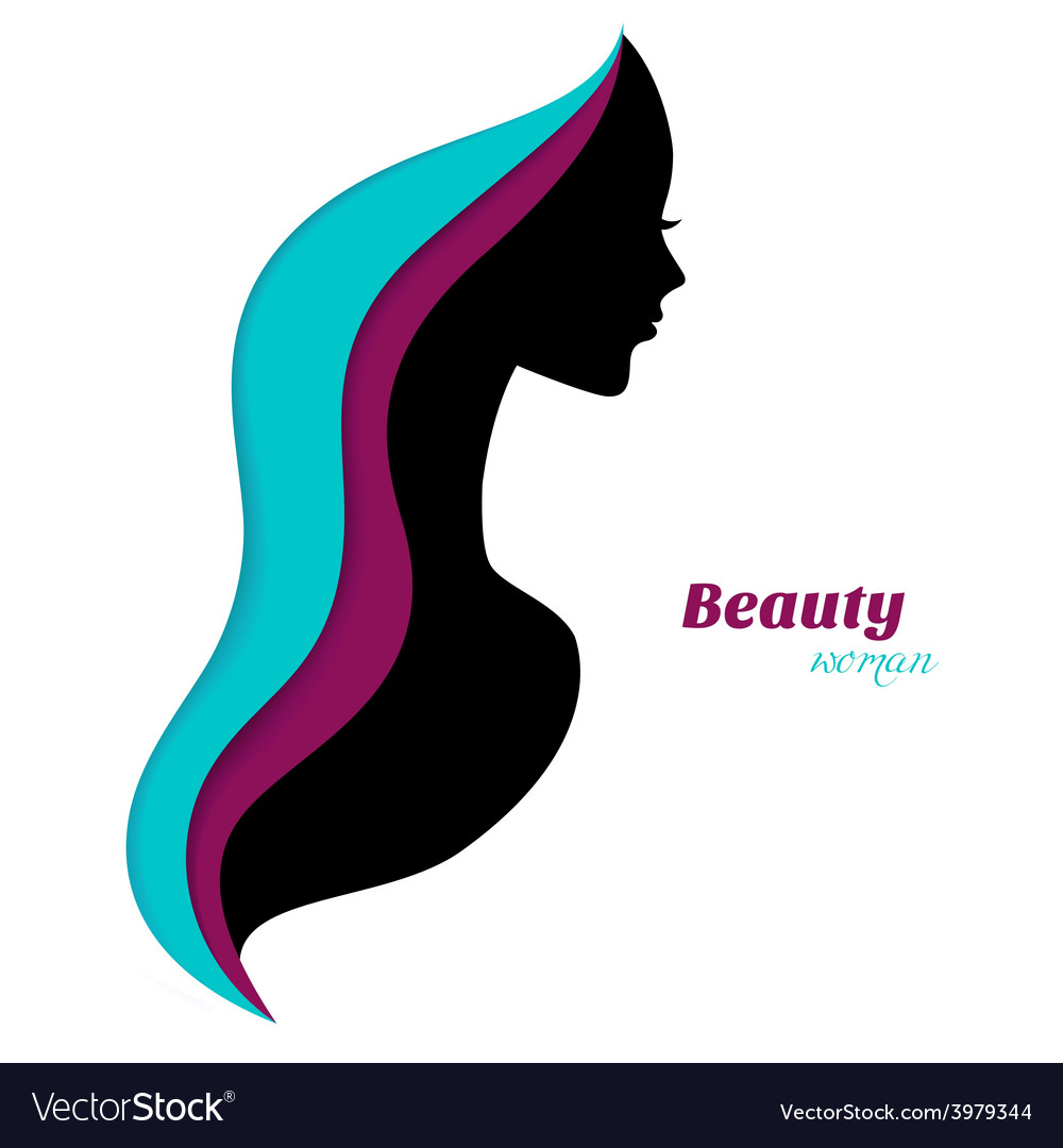 Beautiful and young woman vector | Price: 1 Credit (USD $1)