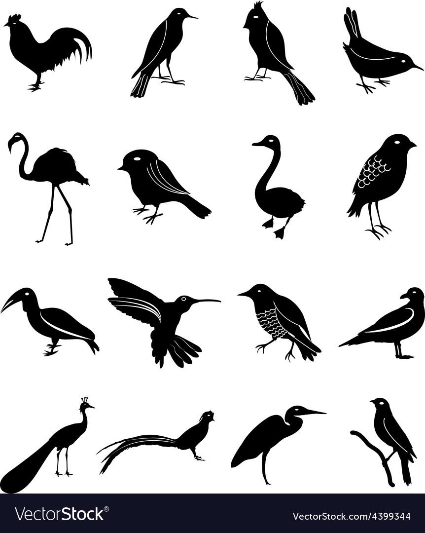 Birds icons set vector | Price: 1 Credit (USD $1)