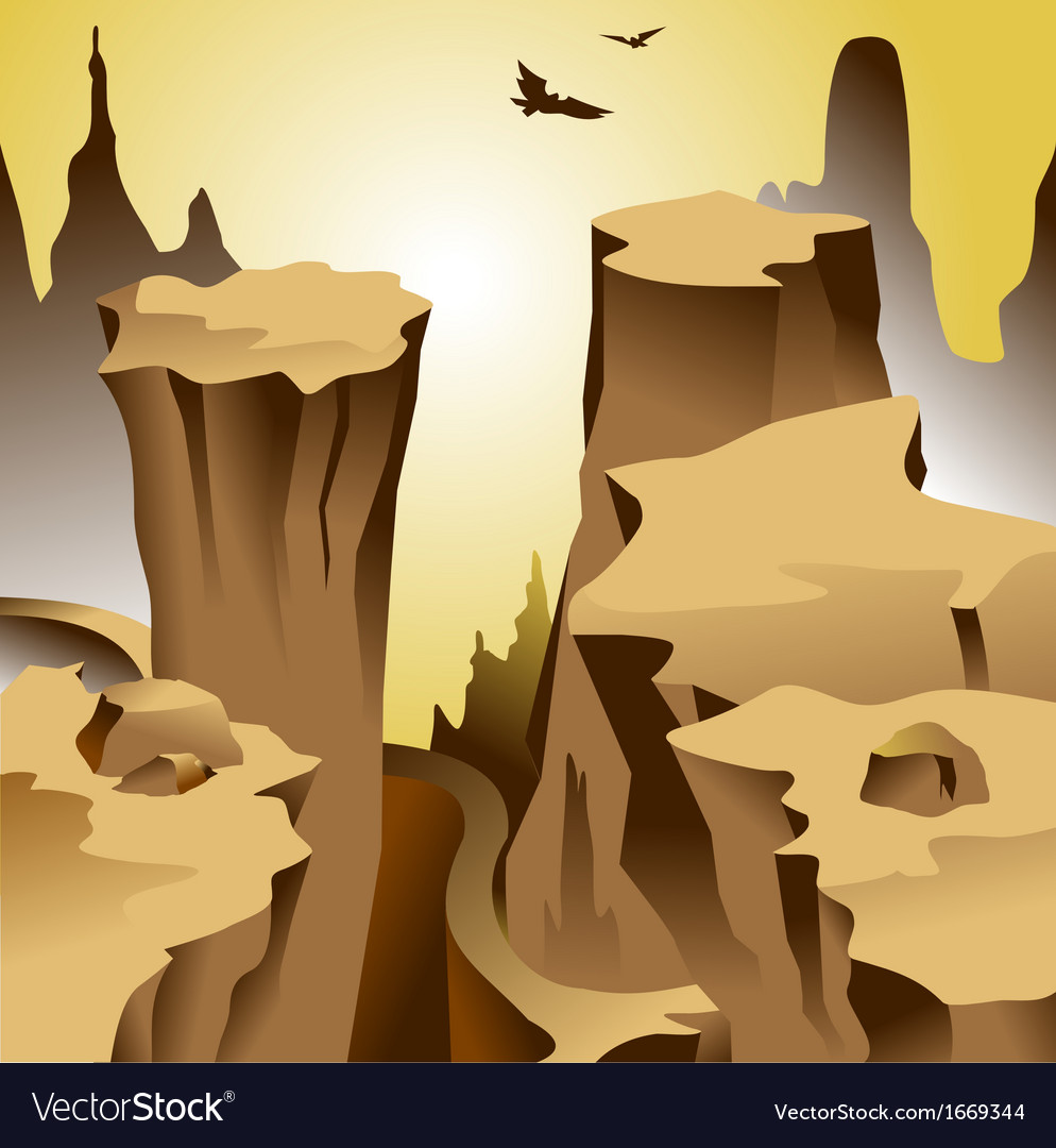 Canyon vector | Price: 1 Credit (USD $1)