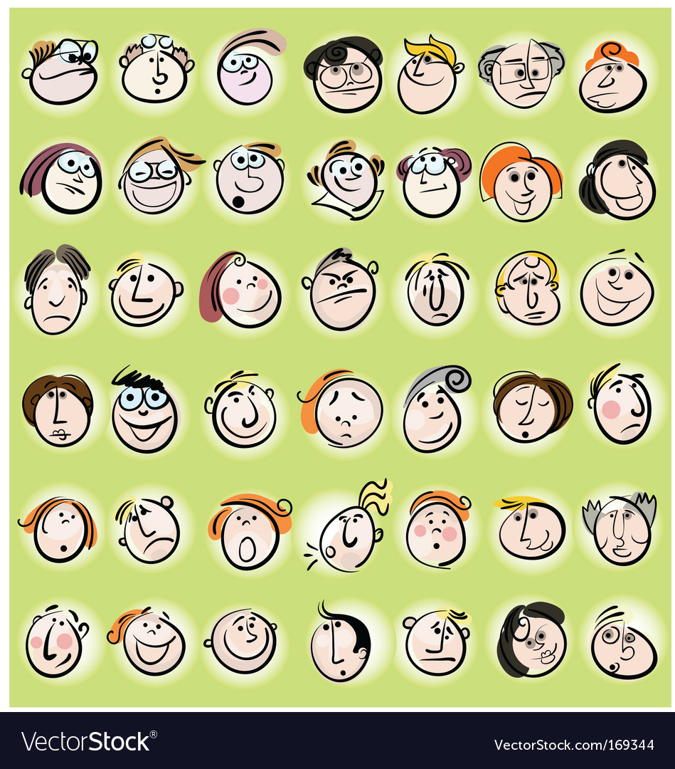 Cartoon face vector | Price: 3 Credit (USD $3)
