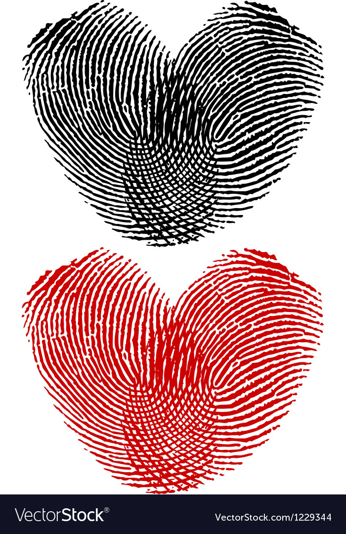 Finger prints in heart shape vector | Price: 1 Credit (USD $1)