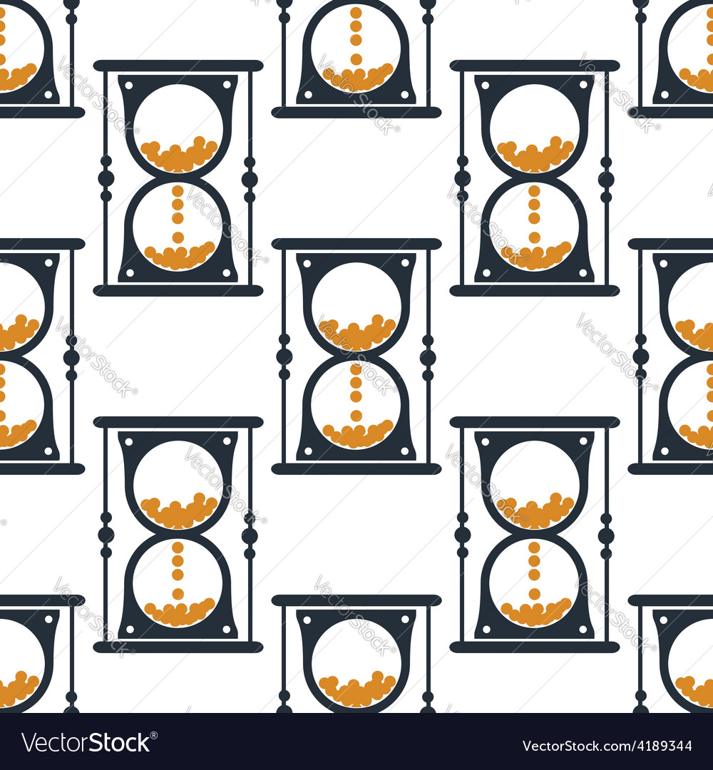 Hourglass or sandglass seamless pattern vector | Price: 1 Credit (USD $1)