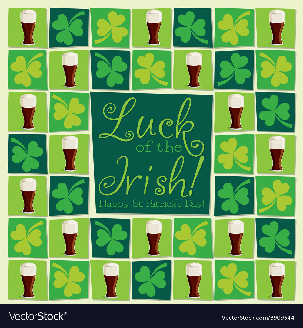 Mosaic funky st patricks day card in format vector   Price: 1 Credit (USD $1)