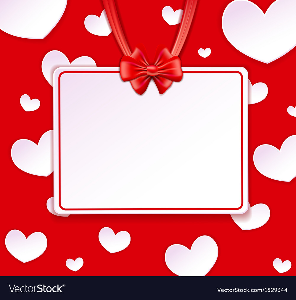 Paper banner with paper hearts vector | Price: 1 Credit (USD $1)
