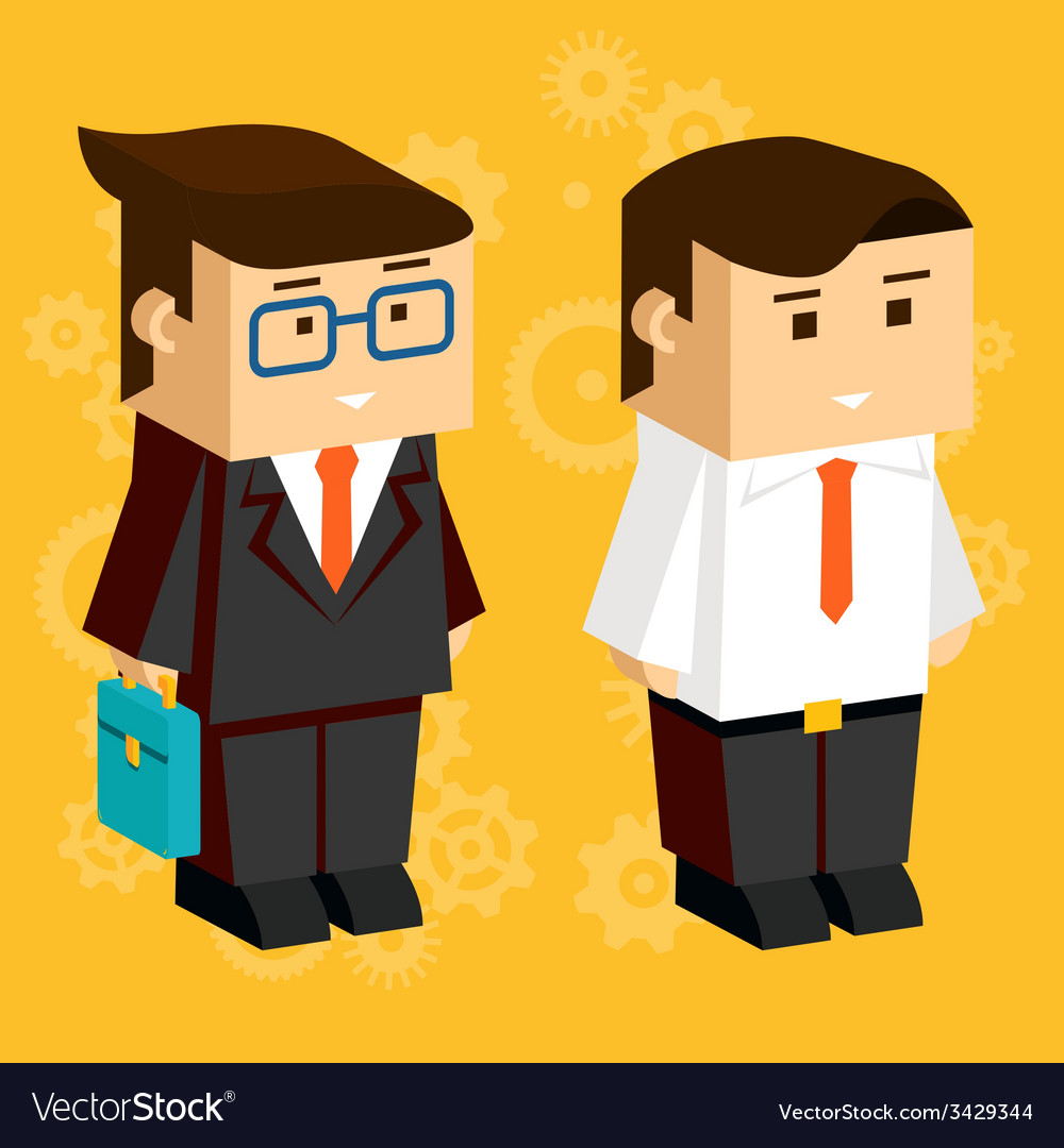 Square businessmen vector | Price: 1 Credit (USD $1)