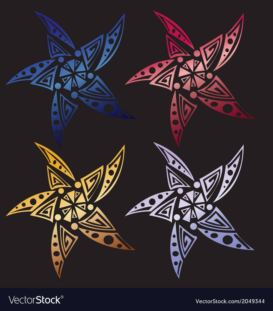 Star tribal set for tattoo vector   Price: 1 Credit (USD $1)