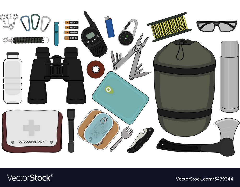Survival set vector | Price: 1 Credit (USD $1)