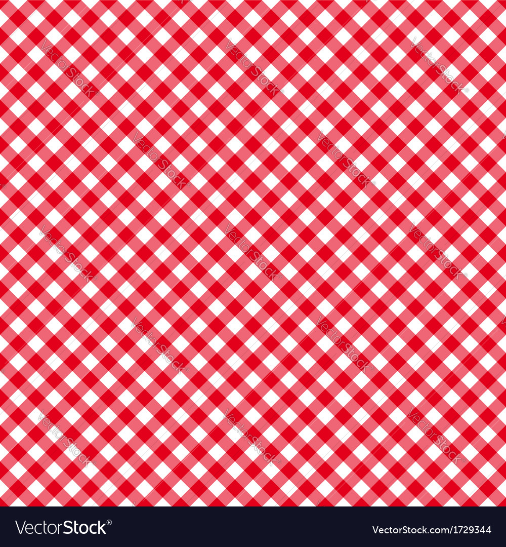 Table cloth seamless pattern red diagonal vector | Price: 1 Credit (USD $1)