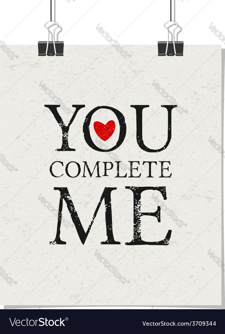 Vintage typographic valentines day design poster vector