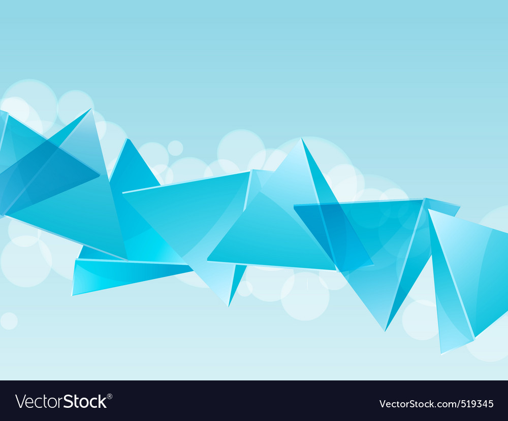 3d blue glass pyramid background vector | Price: 1 Credit (USD $1)