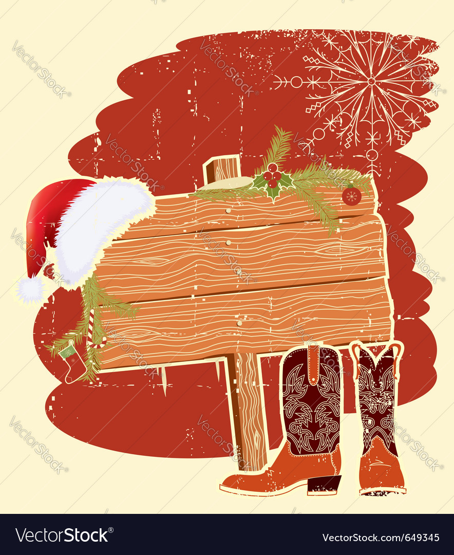 Cowboy christmas vector   Price: 1 Credit (USD $1)